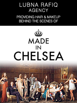 Made in Chelsea - hair and makeup by Lubna Rafiq Agency